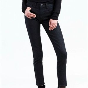 Levi's 721 high-rise skinny sparkly black jeans 30